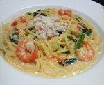 蟹と海老のクリームスパゲティ